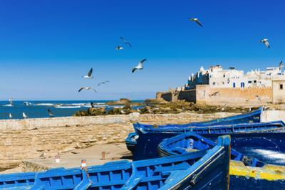 View of the Ramparts of the Old City, Essaouira, Morocco by Nico Tondini