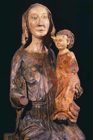 Madonna and Child, Wooden Statue, Orvietana School