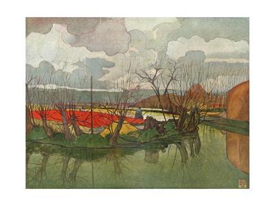 'A Tulip Farm in Holland', c1898