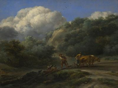 A Man and a Youth Ploughing with Oxen, C. 1650