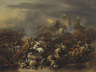 The Battle by Alexander the Great Against the King Porus