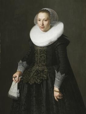 Portrait of a Lady, C.1630 (Oil on Oak Panel) by Nicolaes Eliasz