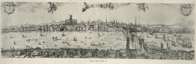 Panorama of London, 1616 by Nicolaes Jansz Visscher