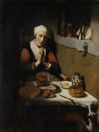 Old Woman Saying Grace by Nicolaes Maes