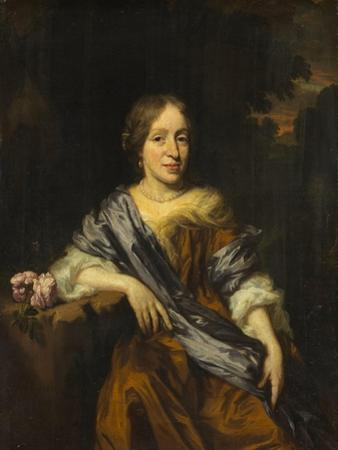 Portrait of Catharina Pottey, Sister of Willem and Sara Pottey by Nicolaes Maes