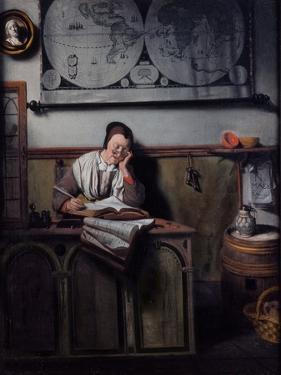 The Account Keeper, 1656 by Nicolaes Maes
