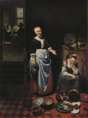 'The Idle Servant', 1655 by Nicolaes Maes