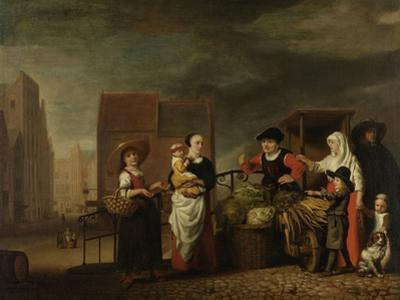 Vegetable Market by Nicolaes Maes