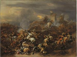 The Battle Between Alexander and Porus by Nicolaes Pietersz. Berchem