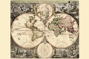 World Map by Nicolao Visscher