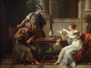 Socrates and Alcibiades at Aspasia, 1801 by Nicolas Andre Monsiau