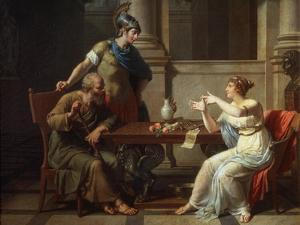 Socrates and Alcibiades at Aspasia, 1801 by Nicolas Andre Monsiau