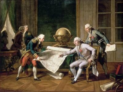 Louis XVI Gives Instructions to Captain La Pérouse, 29 June 1785 by Nicolas André Monsiaux