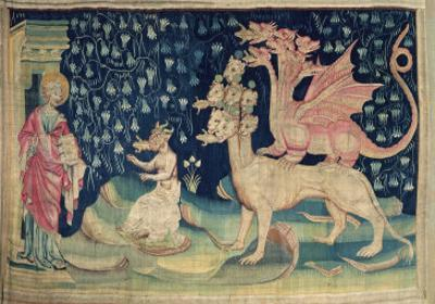 The Dragons Vomiting Frogs, No.62 from The Apocalypse of Angers, 1373-87 by Nicolas Bataille