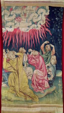 The Fourth Angel Poured Out His Bowl on the Sun, No.60 in the 'Apocalypse of Angers', 1373-87 by Nicolas Bataille