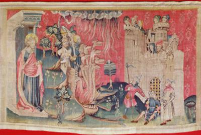 The Siege of the Town, from 'The Apocalypse of Angers', 1373-87 by Nicolas Bataille