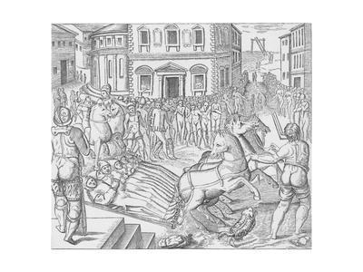 Execution of three Carthusian martyrs, Tyburn, London, 1535 (1904)