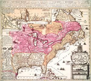 Carte La Nouvelle France 1719 by Nicolas De Fer