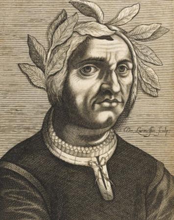 "Jacopo Sannazaro Italian Writer Known for His ""Arcadia"" Derived from Virgil by Nicolas de Larmessin"