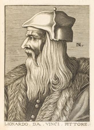 Leonardo Da Vinci Italian Painter Sculptor Architect Engineer and Scientist by Nicolas de Larmessin