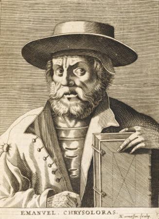 Manuel Chrysoloras Greek Scholar in Italy by Nicolas de Larmessin