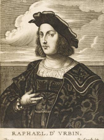 Raffaello Sanzio Italian Artist by Nicolas de Larmessin