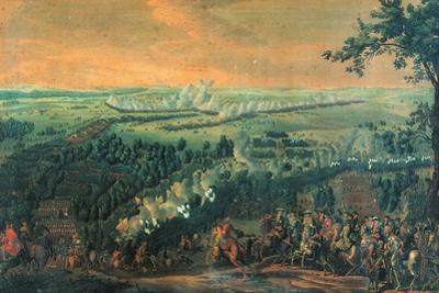 The Battle of Lesnaya, 1720S by Nicolas de Larmessin