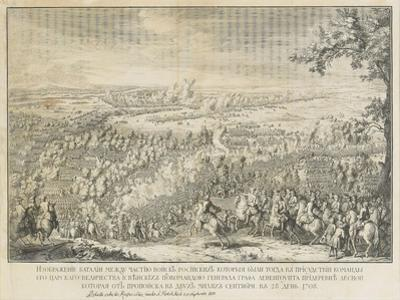 The Battle of Lesnaya by Nicolas de Larmessin