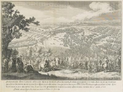 The Battle of Poltava on 27 June 1709 by Nicolas de Larmessin