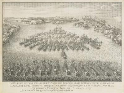 The Naval Battle of Gangut on July 27, 1714 by Nicolas de Larmessin