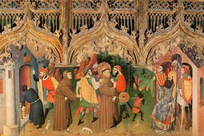 Scene from the Life of St. Francis from the Life of the Virgin and St. Francis Altarpiece