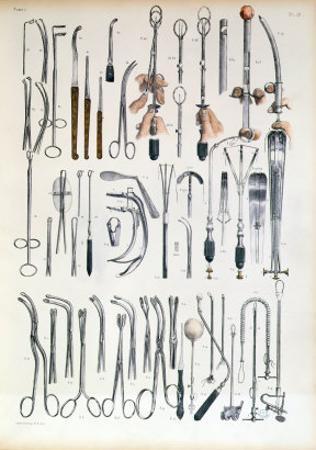 Surgical Instruments For Tonsil Operations, Traite Complet de L'Anatomie de L'Homme