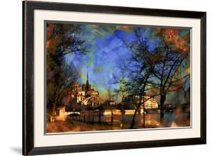 Notre-Dame over La Seine, Paris, France by Nicolas Hugo