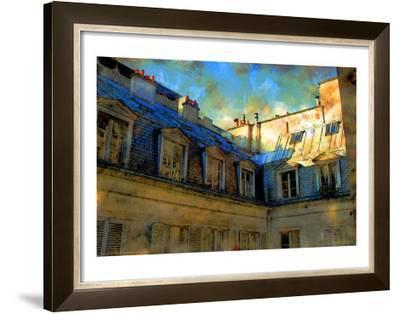 Paris Roof in Blue, France