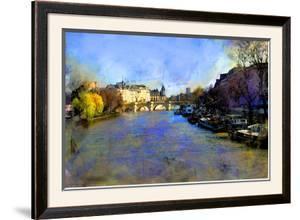 View from Pont des Arts, Paris, France by Nicolas Hugo