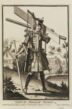 Habit De Menuisier Ebeniste (Imaginary Costume of a Cabinet Maker with the Tools of His Trade) by Nicolas II de Larmessin