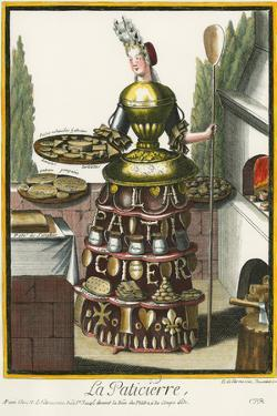 Habit de Paticier (Fantasy Costume of a Confectioner with Attributes of His Trade) by Nicolas II de Larmessin