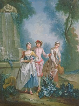 An Allegory of Summer: Gardeners Watering a Flower Bed