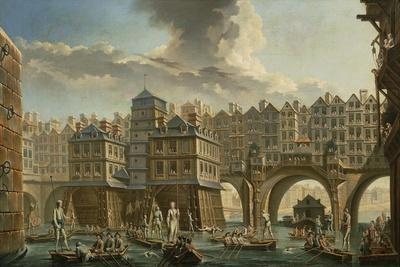 Paris, Boatmen's Joust Between Pont Notre-Dame and Pont Au Change, 1756