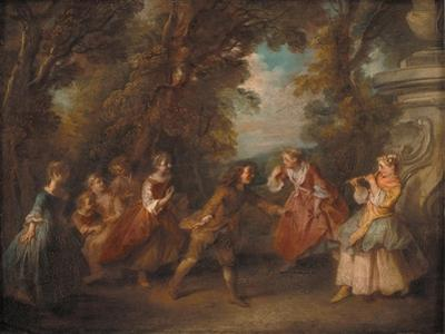 Children at Play in the Open by Nicolas Lancret