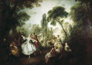 La Camargo Dancing by Nicolas Lancret