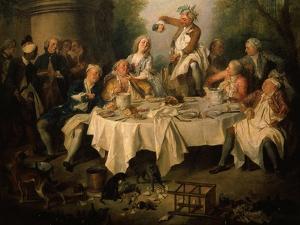 Le Déjeuner De Jambon (The Ham Dinner) (Detail) by Nicolas Lancret