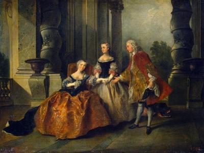 Scene from the Tragedy Le Comte D'Essex by Thomas Corneille, 1734 by Nicolas Lancret