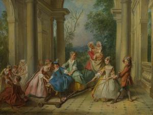 The Four Ages of Man: Childhood, Ca 1735 by Nicolas Lancret