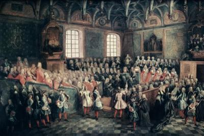 The Seat of Justice in the Parlement of Paris, 1723 by Nicolas Lancret
