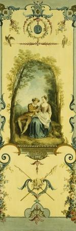 Three Decorative Panels with Allegories of Winter, Summer and Autumn by Nicolas Lancret