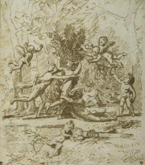 Apollo and Daphne, C.1635 by Nicolas Poussin