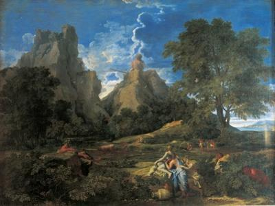 Arcadian Landscape with Polyphemus (Cyclopes in Homer's Odyssey) by Nicolas Poussin