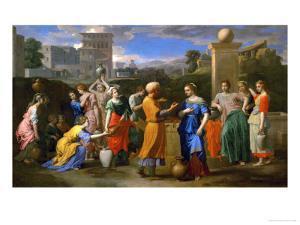 Eliezer and Rebecca by Nicolas Poussin