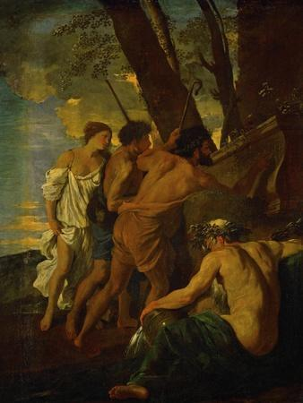 Et in Arcadia Ego, Arcadian Shepherds Try to Decipher the Inscription on an Ancient Sarcophagus